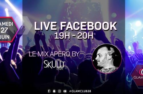 flyer, facebook, instagram, creaskullt, bourgoin jallieu, glam club, communication, skullt