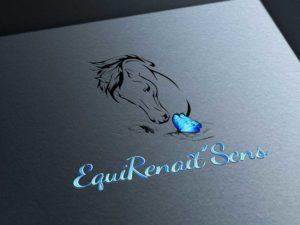 logo, equirenaît'sens, création, design