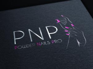 logo, pnp, powder nails pro, création, design