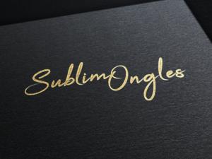 logo, sublim ongles, création, design